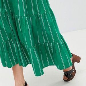 ASOS Skirts - ASOS 💚Green💚 Midi Skirt 4 & Knot Bralette Set 2